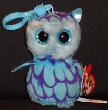 TY BEANIE BOOS - OSCAR the OWL KEY CLIP - MINT with MINT TAGS