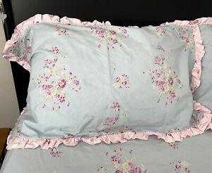 2 SIMPLY SHABBY CHICRachel Ashwell PAPER ROSE CottonKing Shams