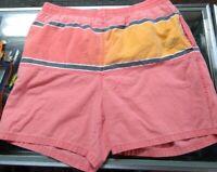 Vintage 80s 90s Gotcha Surf Swim Trunks Size 34 Neon Lined Retro Colorblock
