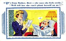 POSTCARD    COMIC   Mother  in  Law  related.......