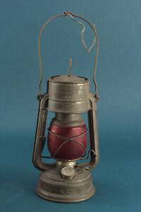 Feuerhand Nr. 276 K 1452 DEPa. Sturmkappe Petroleumleuchte rotes Glas