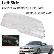 Left Front Car Clear Headlight Cover Lens for 99-03 BMW E46 2DR M3 2001-2006