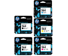 HP Genuine 564 (2)Black, Cyan, Magenta, Yellow Set of 5 Ink Cartridges