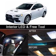 7x White LED Lights Interior Package conversion kit for Lancer Evo 8 9+Free Tool