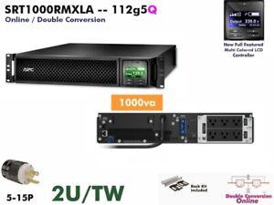 112g5q~ APC SRT Smart Online 1000va UPS 120v SRT1000RMXLA #NewBatts