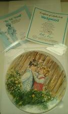 NEW WEDGWOOD 'BE MY FRIEND' COLLECTOR PLATE 1981 5913G CERTIFICATE IN BOX NIB