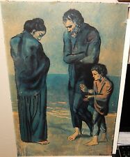 """PICASSO """"THE TRAGEDY"""" OLD COLOR LARGE LITHOGRAPH"""