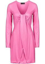 Neu Kleid in Wickeloptik, 964194 in Flamingopink 48/50