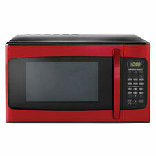 Microwave 1.1 Cu Ft Hamilton Beach Child Lock Stainless Steel Timer LED Red