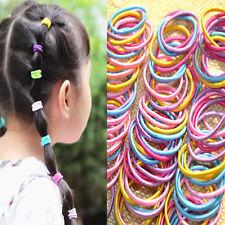100 X Colorful Baby Kids Girl Elastic Hair Bands Ponytail Holder Head Rope Ties