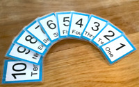 Numbers Flash Cards Kids Toddlers Preschool Early Learning Resource EYFS Sen