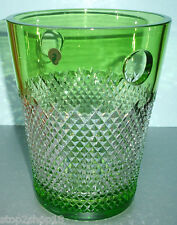 """Waterford ALANA Prestige Champagne Bucket Cooler Lime Green Crystal 11"""" New Box"""