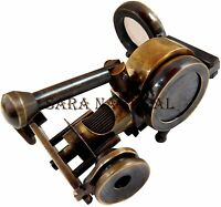 Marine Vintage Antique Brass Binocular with Compass Adjust Marine Spyglass