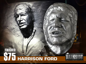"HAN SOLO IN CARBONITE LIFE-SIZE Life Cast in Lightweight ""PEWTER FINISH"" Resin"
