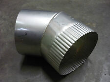 "WOOD HEATER FLUE S/S 45 Degree ELBOW 6"" diameter B/New"