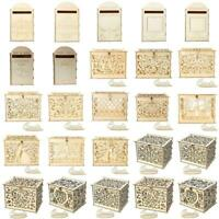Wedding Favors Card Box Hollow Sign Boxes With Lock Decoration Wooden Gift Decal