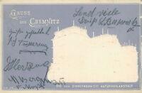 Ansichtskarte Chemnitz 1901 Prägekarte Die von Zimmermannsche Naturheil (Nr.762)