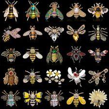 Charm Women Honeybee Crystal Enamel Insect Bee Rhinestone Brooch Pin Jewelry Hot