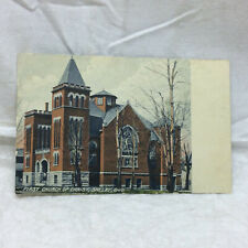 Vintage Postcard First Church Of Christ Scene Shelby Ohio Wheelock