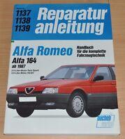 Alfa Romeo 164 ab 1987 2,0 3,0 Liter V6 QV Twin Spark Reparaturanleitung B1137