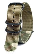 Praetorian® DiverTec Extrem Nato / Zulu Armband Woodland Camo 22mm PVD