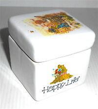 HAPPY LIFE 70s Norex italy - pottery tiny box - scatola piccola ceramica ottima
