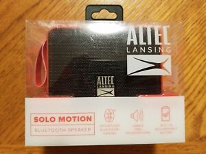 ALTEC LANSING SOLO MOTION Red Bluetooth Speaker New! Sealed Free Shipping!