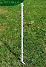 20 X WHITE 3FT POSTS - Electric Fencing Fence Stakes Poles 105cm With Spike