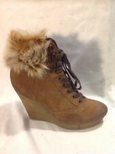 Bertie Brown Ankle Suede Boots Size 38