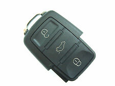 VW Golf Passat Polo Sharan Touran 3 Button Flip Remote Key Fob Case