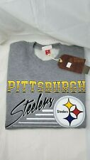 NFL.  PITTSBURGH STEELERS. MITCHELL & NESS SWEATSHIRT.  GRAY.