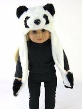 "Panda Bear Hat w/ Hand Pockets 18"" Doll Clothes Fit American Girl Dolls"