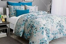 Alamode Home Hycroft Duvet Cover & Pillow Sham - Gray & Blue Floral - Twin Set