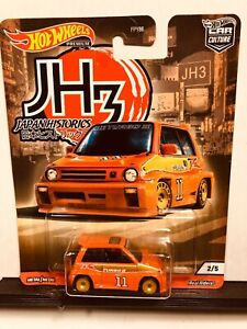 1/64 HOT WHEELS JAPAN HISTORICS 1985 HONDA CITY TURBO II ORANGE 2/5