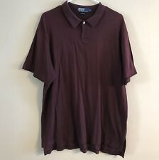 Polo Ralph Lauren Mens Polo Shirt Size Large One Button Maroon