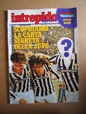 INTREPIDO n°30 1983 Carta segreta Juventus Platini Scirea  [G421]