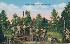 POSTCARD   MILITARY  Service  firing  240 mm  Howitzer