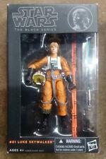 Star Wars Luke Skywalker X-Wing Pilot Black Series orange opened complete
