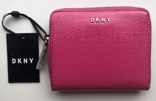 DKNY Womens Wallet Black Zip Around RRP £95 Faux Leather Debossed Logo