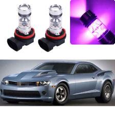 2x 14000K Purple LED Headlight Bulb Kit Fog Light For Chevrolet Camaro 2012-2015