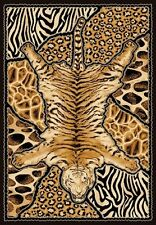 6' X 8' AFRICAN SAFARI ANIMAL SKINS PRINT TIGER HIGH QUALITY DENSITY AREA RUG