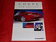 """OPEL IRMSCHER Astra G Coupe """"DTM Edition"""" Sondermodell Prospekt von 2001"""