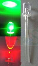 10pcs, 5mm Red/Green Flash Flashing Water Clear LED with free resistor for 12v