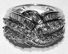 New Ladies 14K White Gold Diamond Ring