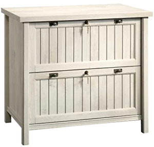 Sauder Costa Lateral File Chalked Chestnut Finish Oak Rectangle 2 Drawers Home