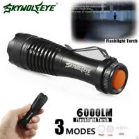 3 Modes Mini 6000LM CREE Q5 LED Zoom Super Bright Flashlight Police Torch Lamp