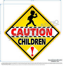 Caution Children Crossing Ice Cream Concession Truck Child Safety Sign Decal 185