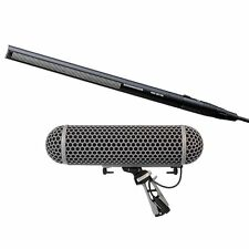 Sennheiser MKH416 P48 Condenser Shotgun Microphone and Rode Blimp 2 Wind Shield