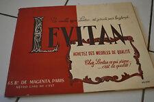 ANCIEN CATALOGUE DE MEUBLES LEVITAN // 63 BD DE MAGENTA, PARIS