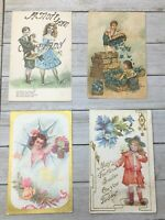 or  the last??..lot of 4 romance postcards..lot of 4..themed..the first Kiss suitable for framing